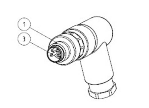 TE Connectivity 3-2271123-2 Sensor-/Aktor-Steckverbinder, unkonfektioniert M12 Stecker, gewinkelt Polzahl: 4 1 St.