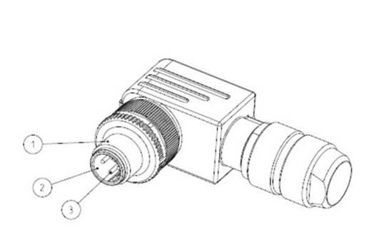 TE Connectivity 3-2271127-2 Sensor-/Aktor-Steckverbinder, unkonfektioniert M12 Stecker, gewinkelt Polzahl: 4 1 St.