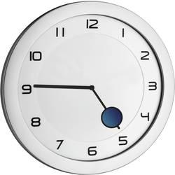 Quartz nástenné hodiny TFA Dostmann HAPPY HOUR Wanduhr 60.3028.54, vonkajší Ø 28 cm, kovová strieborná