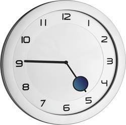 Quartz nástěnné hodiny TFA HAPPY HOUR Wanduhr 60.3028.54, vnější Ø 28 cm, kovová stříbrná