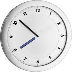 Quartz nástěnné hodiny TFA HAPPY HOUR Wanduhr 60.3027.54, vnější Ø 28 cm, kovová stříbrná