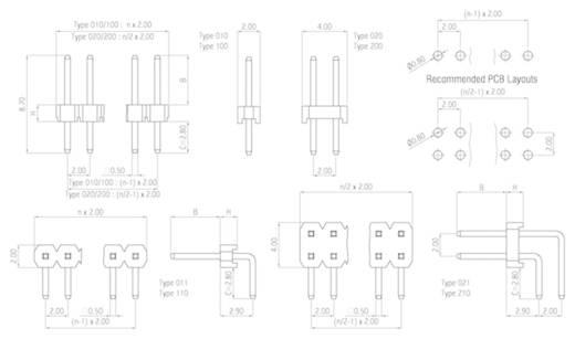 W & P Products Stiftleiste (Standard) Anzahl Reihen: 2 Polzahl je Reihe: 25 314-200-050-00 1 St.