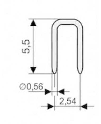 Kurzschlussbrücke Rastermaß: 2.54 mm Polzahl je Reihe:2 W & P Products 166-10-10-0 Inhalt: 1 St.