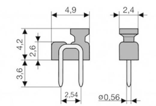 Kurzschlussbrücke Rastermaß: 2.54 mm Polzahl je Reihe:2 W & P Products 166-10-10-1 Inhalt: 1 St.