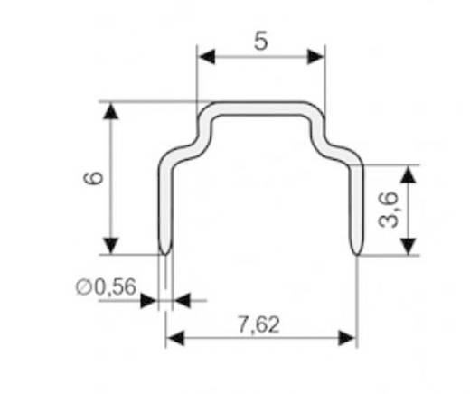 Kurzschlussbrücke Rastermaß: 7.62 mm Polzahl je Reihe:2 W & P Products 166-30-10-0 Inhalt: 1 St.