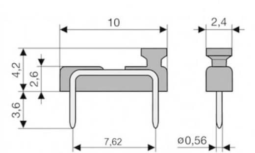 Kurzschlussbrücke Rastermaß: 7.62 mm Polzahl je Reihe:2 W & P Products 166-30-10-1 Inhalt: 1 St.