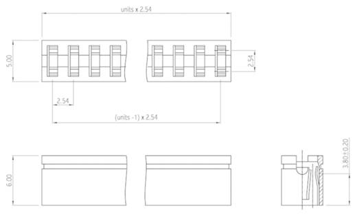 Kurzschlussbrücke Rastermaß: 2.54 mm Polzahl je Reihe:5 W & P Products 365-05-10-00 Inhalt: 1 St.