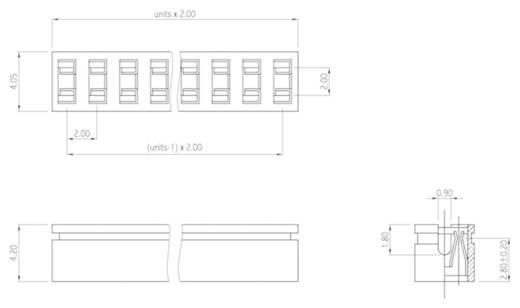 Kurzschlussbrücke Rastermaß: 2 mm Polzahl je Reihe:4 W & P Products 361-04-10-00 Inhalt: 1 St.