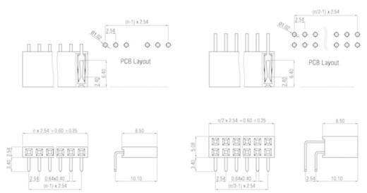 W & P Products Buchsenleiste (Standard) Anzahl Reihen: 2 Polzahl je Reihe: 10 159-20-2-00 1 St.