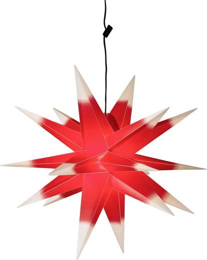7959 Fenster-Dekoration Stern Rot, Weiß