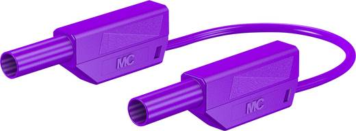 Stäubli 66.8563-02526 Sicherheits-Messleitung [Lamellenstecker 4 mm - Lamellenstecker 4 mm] 0.25 m Violett