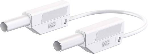 Sicherheits-Messleitung [Lamellenstecker 4 mm - Lamellenstecker 4 mm] 1.5 m Weiß Stäubli 66.8563-15029