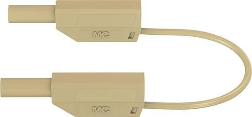 Stäubli 66.8562-10027 Sicherheits-Messleitung [Lamellenstecker 4 mm - Lamellenstecker 4 mm] 1 m Braun