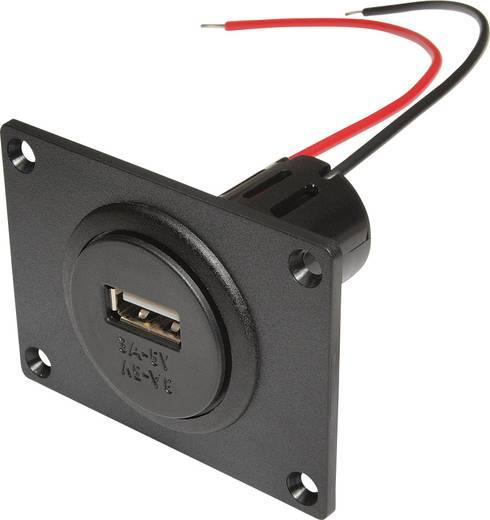 ProCar Power USB Einbausteckdose mit Montageplatte Belastbarkeit Strom max.=3 A Passend für (Details) USB-A