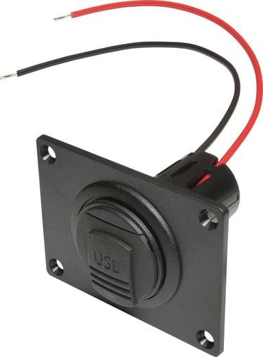 ProCar Power USB Einbausteckdose mit Montageplatte und Deckel Belastbarkeit Strom max.=3 A Passend für (Details) USB-A
