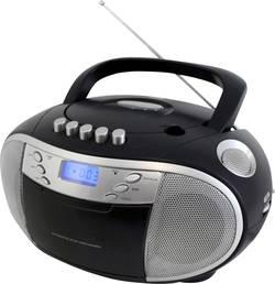 FM CD rádio SoundMaster SCD6900SW, CD, kazeta, SV, FM, černá