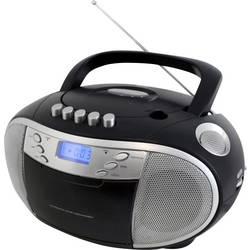 FM rádio s CD prehrávačom SoundMaster SCD6900SW, CD, kazeta, MW, UKW, čierna