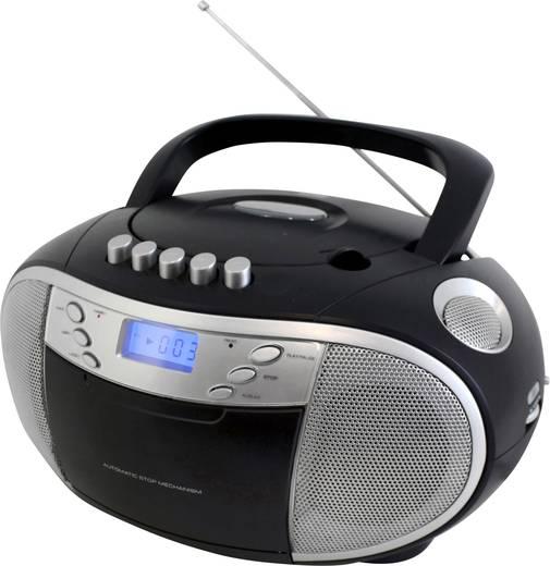 UKW CD-Radio SoundMaster SCD6900SW CD, Kassette, MW, UKW Schwarz