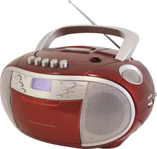 SoundMaster SCD6900RO UKW CD-Radio CD, Kassette, MW, UKW Rot