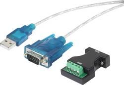 Adaptér USB Renkforce [1x DSUB zástrčka 9pólová, pólová svorka - 1x USB 1.1 zástrčka A], černá