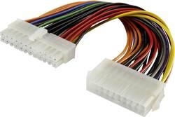 PC napájecí prodlužovací kabel Renkforce RF-4212168, 0.12 m, barevná