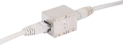 RJ45 Netzwerk Verlängerungskabel CAT 6 S/FTP 1 m Grau mit Rastnasenschutz, vergoldete Steckkontakte Renkforce