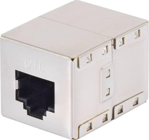 RJ45 Netzwerk Verlängerungskabel CAT 6 S/FTP 0.25 m Grau mit Rastnasenschutz, vergoldete Steckkontakte Renkforce