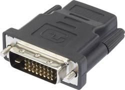 HDMI / DVI adaptér Renkforce [1x HDMI zásuvka - 1x DVI zástrčka 24+1pólová], černá
