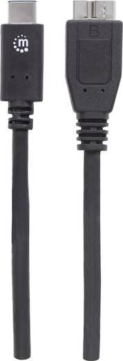Manhattan USB 3.1 Anschlusskabel [1x USB-C™ Stecker - 1x USB 3.0 Stecker Micro B] 1 m Schwarz UL-zertifiziert
