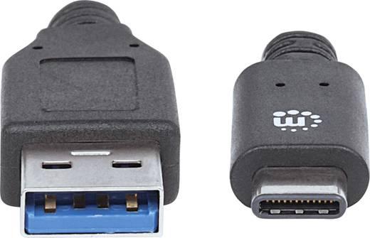 Manhattan USB 3.1 Anschlusskabel [1x USB-C™ Stecker - 1x USB 3.0 Stecker A] 1 m Schwarz UL-zertifiziert