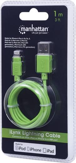 Manhattan iPad/iPhone/iPod Datenkabel/Ladekabel [1x USB 2.0 Stecker A - 1x Apple Lightning-Stecker] 1 m Grün