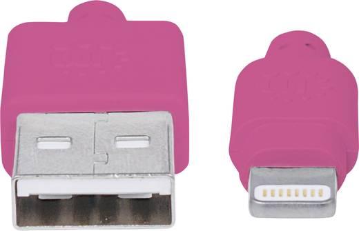 iPad/iPhone/iPod Datenkabel/Ladekabel [1x USB 2.0 Stecker A - 1x Apple Dock-Stecker Lightning] 1 m Pink Manhattan