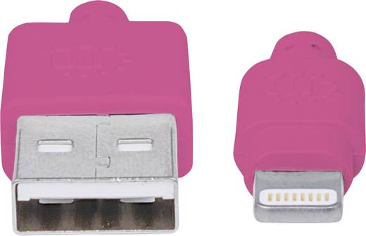 Manhattan iPad/iPhone/iPod Datenkabel/Ladekabel [1x USB 2.0 Stecker A - 1x Apple Lightning-Stecker] 1 m Pink