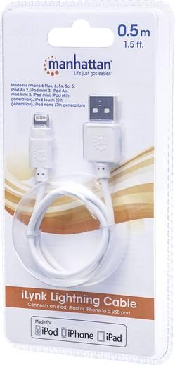 Manhattan iPad/iPhone/iPod Datenkabel/Ladekabel [1x USB 2.0 Stecker A - 1x Apple Dock-Stecker Lightning] 1.8 m Weiß