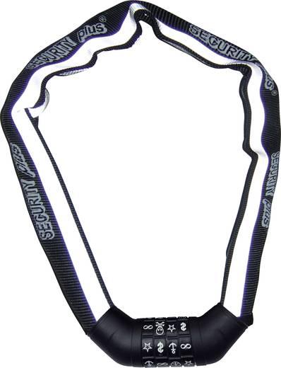 Kettenschloss Security Plus SKS 100 Schwarz, Weiß (reflektierend) reflektierende Ummantelung Zahlenschloss mit Symbolen