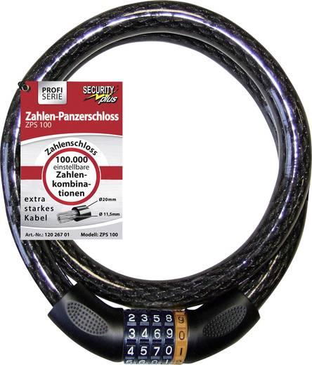Kabelschloss Security Plus ZPS 100 Schwarz Zahlenschloss