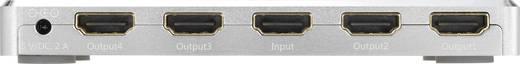4 Port HDMI-Splitter SpeaKa Professional mit Aluminiumgehäuse, Ultra HD-fähig 3840 x 2160 Pixel