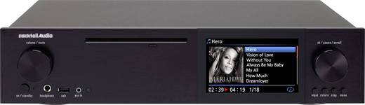Internetradio HiFi-Tuner Cocktail Audio X40 Schwarz Internetradio, USB