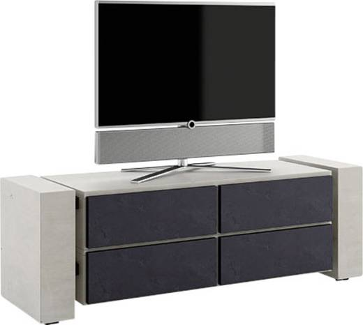 Schnepel TV-Möbel X-Linie geschlossen mit Seiten in Beton Optik