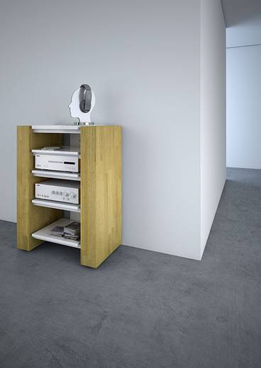 schnepel x hifi rack in eiche echtholz hochglanz wei. Black Bedroom Furniture Sets. Home Design Ideas