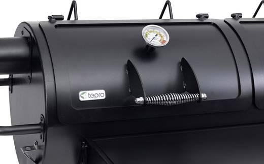 tepro Garten Indianapolis Massiv, Grillwagen Smoker Thermometer im Deckel Schwarz