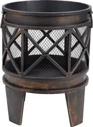 tepro garten silver city rund feuerstelle mit funkenschutz schwarz silber kaufen. Black Bedroom Furniture Sets. Home Design Ideas