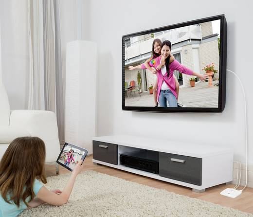 Renkforce renkCast TV Streaming Mediaplayer AirPlay, Miracast, DLNA