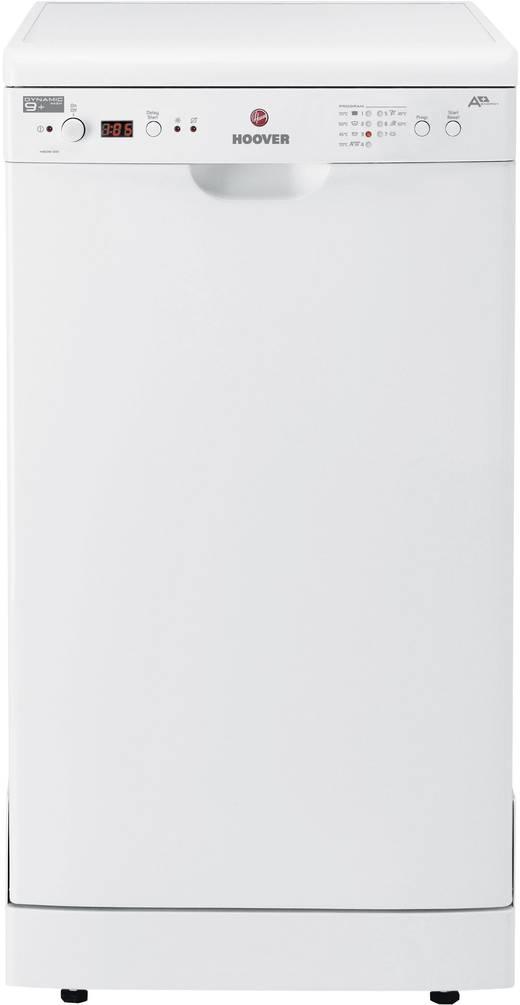 Geschirrspüler 45 cm Hoover HEDS 100/E EEK: A+ Teilintegrierbar Weiß | {Standgeschirrspüler 76}