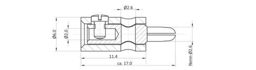 Bananenstecker Stecker, gerade Stift-Ø: 2.6 mm Signal-Rot econ connect HOSSRT 1 St.
