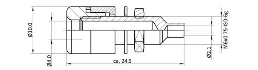 Laborbuchse Buchse, Einbau vertikal Stift-Ø: 4 mm Signal-Rot econ connect TB4SRT 1 St.