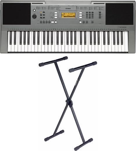 Yamaha PSR-E353 BUNDLE + STATIV Keyboard Grau inkl. Stativ, inkl. Netzteil