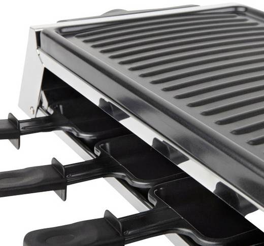 Raclette Korona 45020 8 Pfännchen, mit manueller Temperatureinstellung Edelstahl, Schwarz
