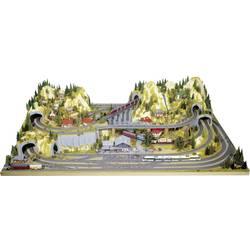 Image of NOCH 0080100 H0 Fertiggelände zentral Silvretta H0 Märklin C-Gleis (mit Bettung), H0 Märklin K-Gleis (ohne Bettung), H0