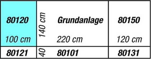 H0 Anbauteil links NOCH 0080120 Drehscheibe Passend für: Silvretta H0 Märklin C-Gleis (mit Bettung), H0 Märklin K-Gleis